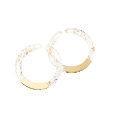 Circle Earcuff (Clear)