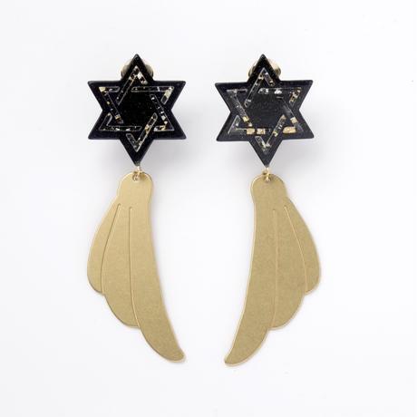 Hexagram Earring (Navy)