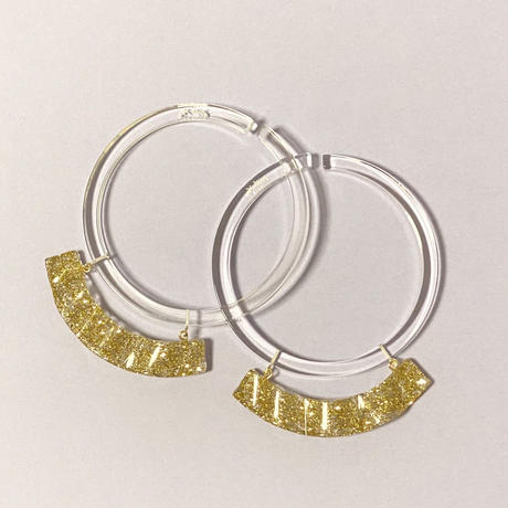 Surge Earcuff (Clear×Gold)