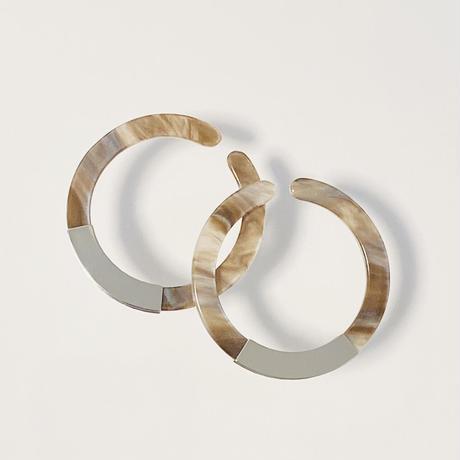 Circle Earcuff (Marble Brown)