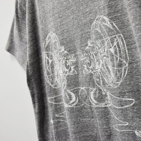 扇風機Tシャツ/Gray