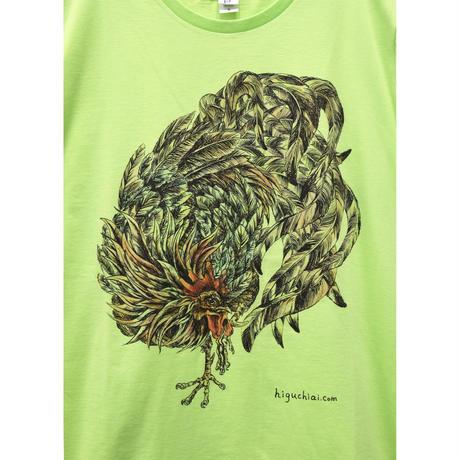 にわとりTシャツ/Lime green