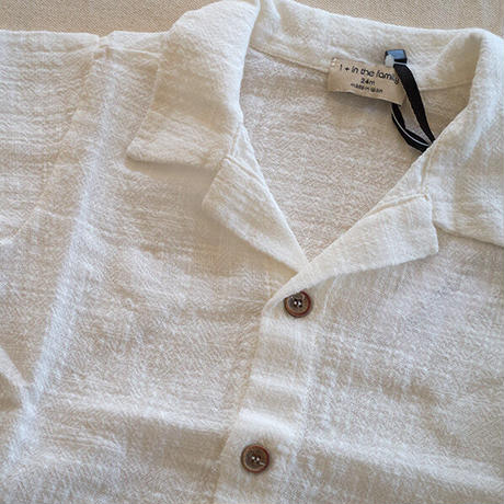 1+in the family / DAVID short sleeve shirt - off-white