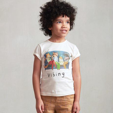 oeuf / Tee Shirt-Vibing - Gardenia
