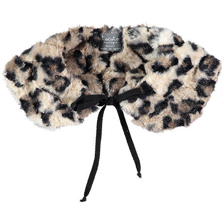 tocoto vintage /   Animal print fur collar - BROWN