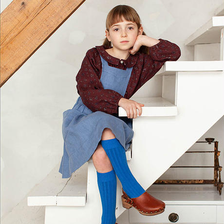 SOOR PLOOM / Harriet Pinafore - CORNFLOWER LINEN
