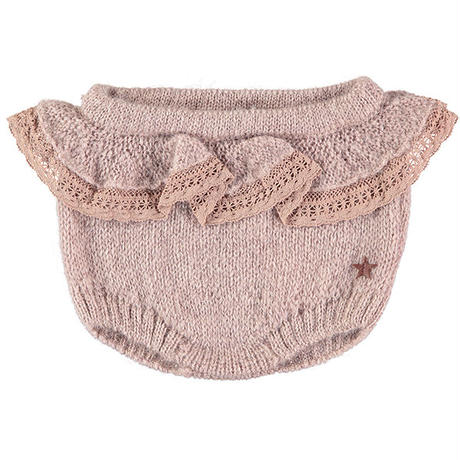 tocoto vintage /  Knitted bloomer with lace - PINK