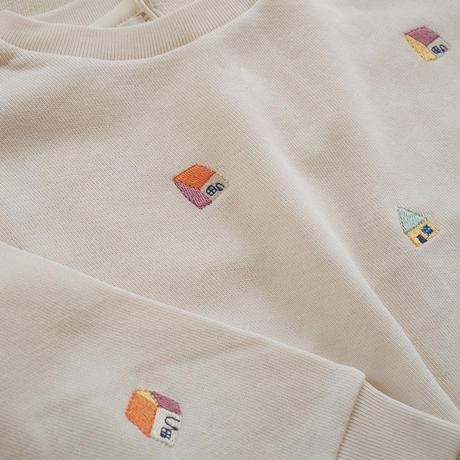 oeuf / baby sweatshirt-gardenia