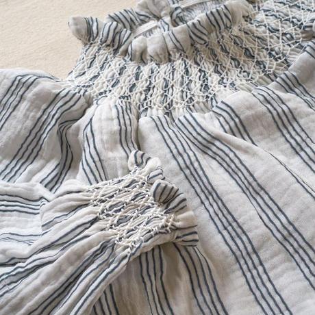 na pa ani / FRIDA SMOCK Blouse - Grey stripes