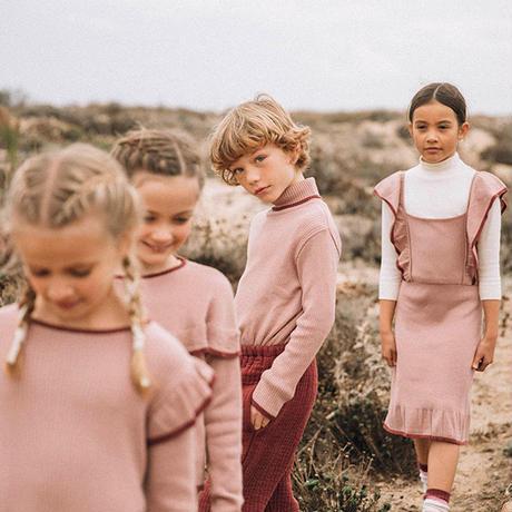 liilu / Knit Turtleneck Sweater - Old rose