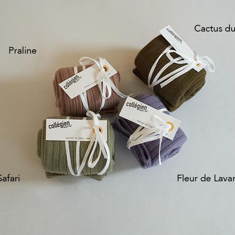 Collégien / Knee highs socks - Fleur de Lavande