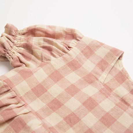 Nellie Quats / Marbles Romper - Rose Check Linen