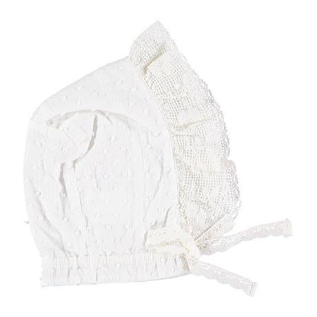 tocoto vintage /  Plumeti lace bonnet