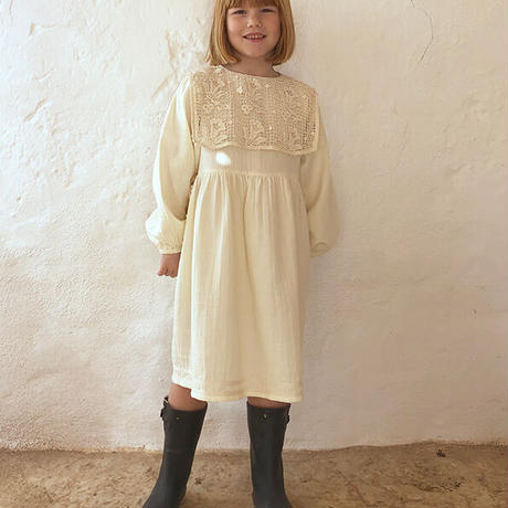 liilu / Folk Emma Dress - Milk  6Y