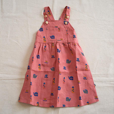 oeuf / Overall Dress - Punch Pink