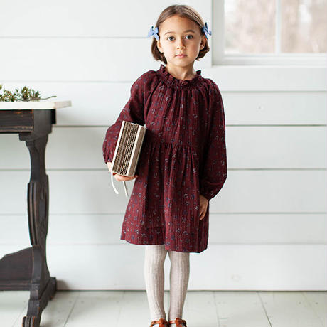 SOOR PLOOM / Antoinette Dress - PRAIRIE PRINT - BEETROOT