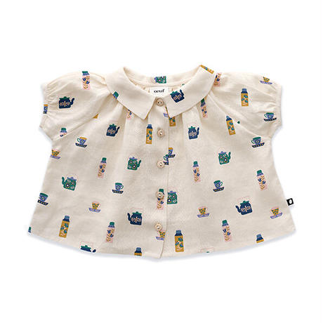 oeuf / Short Sleeve Blouse - Gardenia