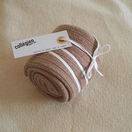 Collégien / La Haute Ribbed Knee-High Socks - Taupe