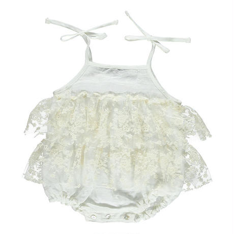 Bebe Organic / Madeline romper dress - Natural white
