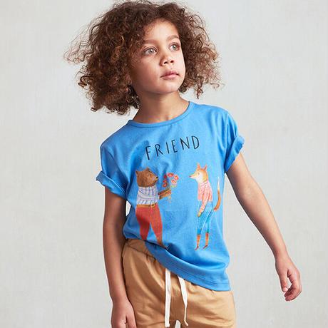oeuf / Tee Shirt-Friend - Sky Blue