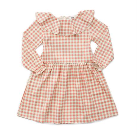 oeuf / ruffle collar dress - warm red gingham