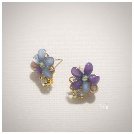 ☆母の日ギフト☆春の花のピアス (送料無料)