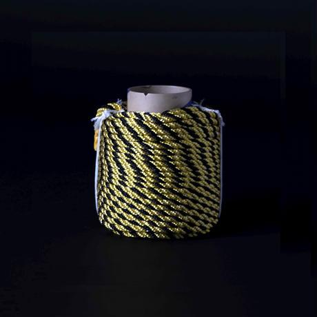 光る安全ロープ 太さ 10.0mm 50m巻き 色:イエロー・ブラック