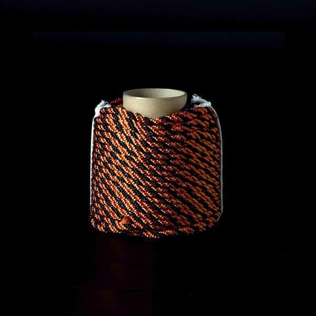 光る安全ロープ   太さ 10.0mm 50m巻き 色:オレンジ・ブラック