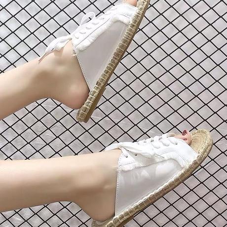 ユニーク麻縄の靴底フラット快適スリッパ