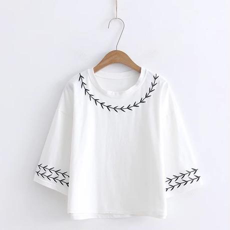 クリーンカラートップス/カジュアル日常シャツ