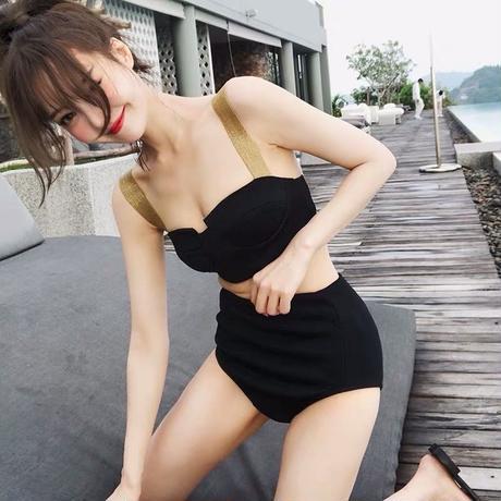 2点セット水着  高級韓国スタイルセパレートビキニ