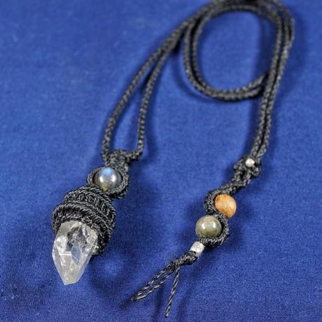 ヒマラヤ水晶 ネックレス マニカラン産 (ラブラドライト・etc)