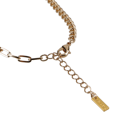 cut chain necklace / gold