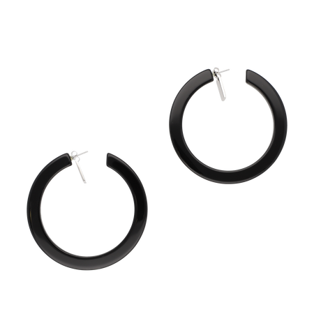 Big hoop pierces  / black
