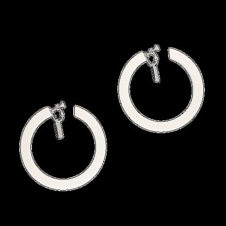 Big hoop pierces / white
