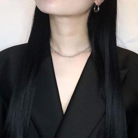 Braid chain  choker / silver