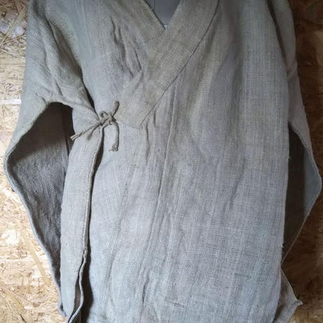 ヒマラヤンヘンプ100%の作務衣風 上着