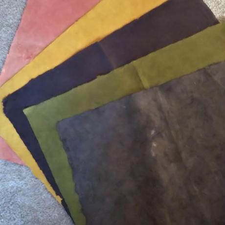 草木染めヘンプロクタペーパー5枚セット