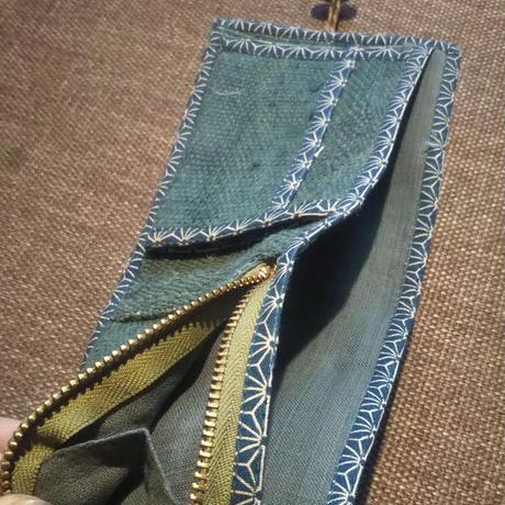 ヒマラヤンヘンプの2つ折財布  草木染めコットン裏地   2021 モデル