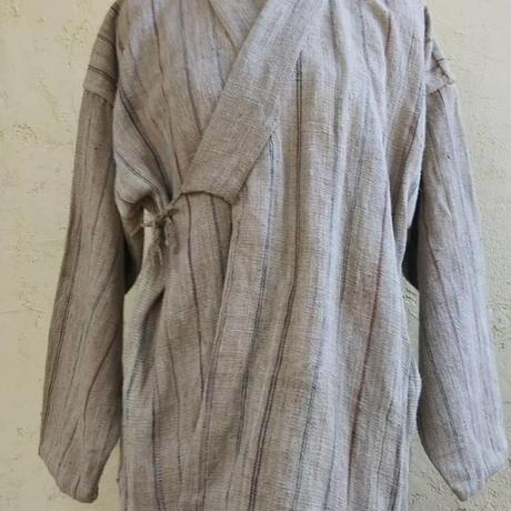 アンティークヘンプの手縫い作務衣風