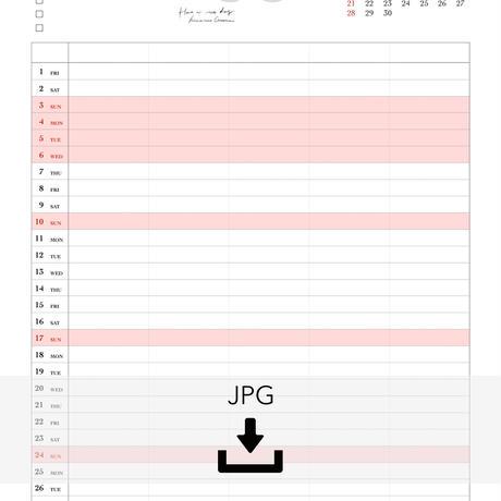 5月ファミリーカレンダー
