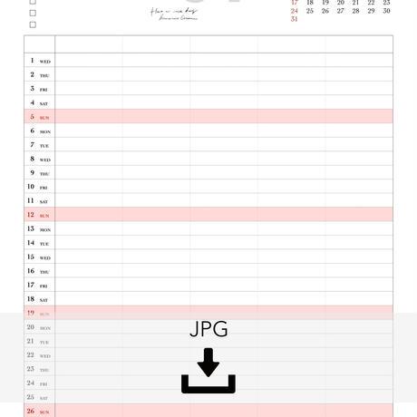 4月ファミリーカレンダー