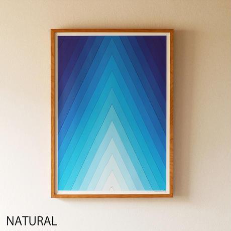 Mountain Poster / winter blue