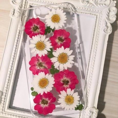 【受注製作74】iphone5/5sケース 本物のお花使用 スマホ