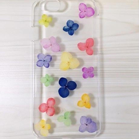 【受注製作71】iphone5/5sケース 本物のお花使用 スマホ