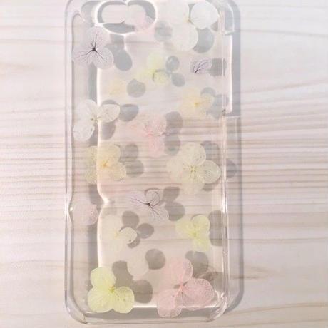 【受注製作67】iphone5/5sケース 本物のお花使用 スマホ