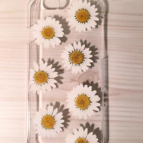【受注製作73】iphone5/5sケース 本物のお花使用 スマホ
