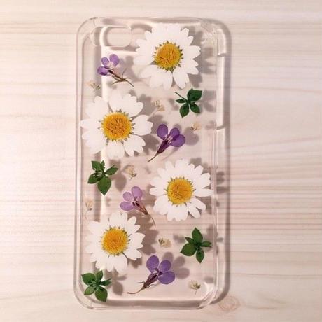 【受注製作65】iphone5/5sケース 本物のお花使用 スマホ