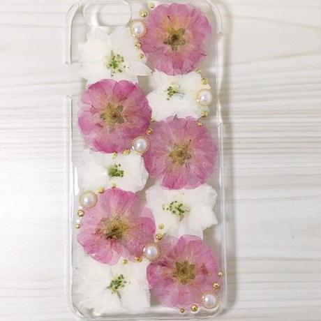 【受注製作69】iphone5/5sケース 本物のお花使用 スマホ