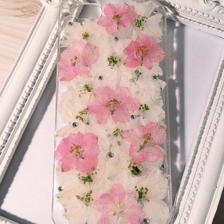 【受注製作77】iphone5/5sケース 本物のお花使用 スマホ